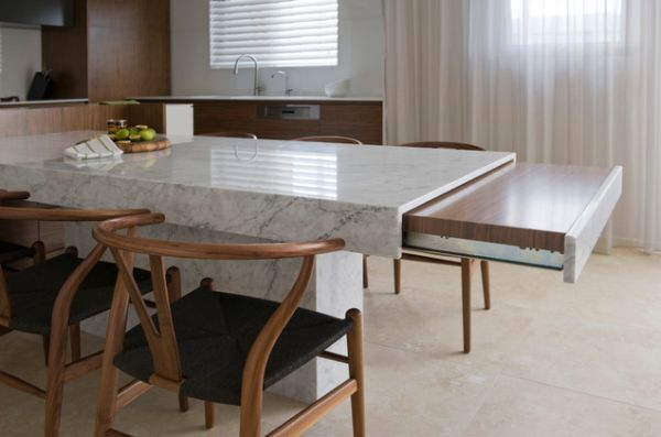 Sliding Table In The Kitchen With Their
