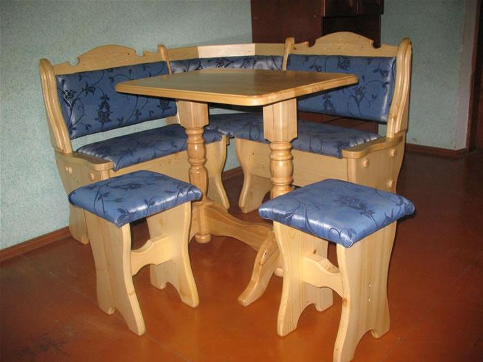 Деревянный уголок на кухню своими руками