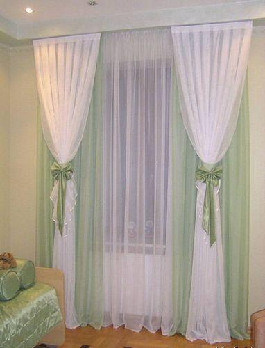 Как сшить шторы из вуали трёх цветов 86