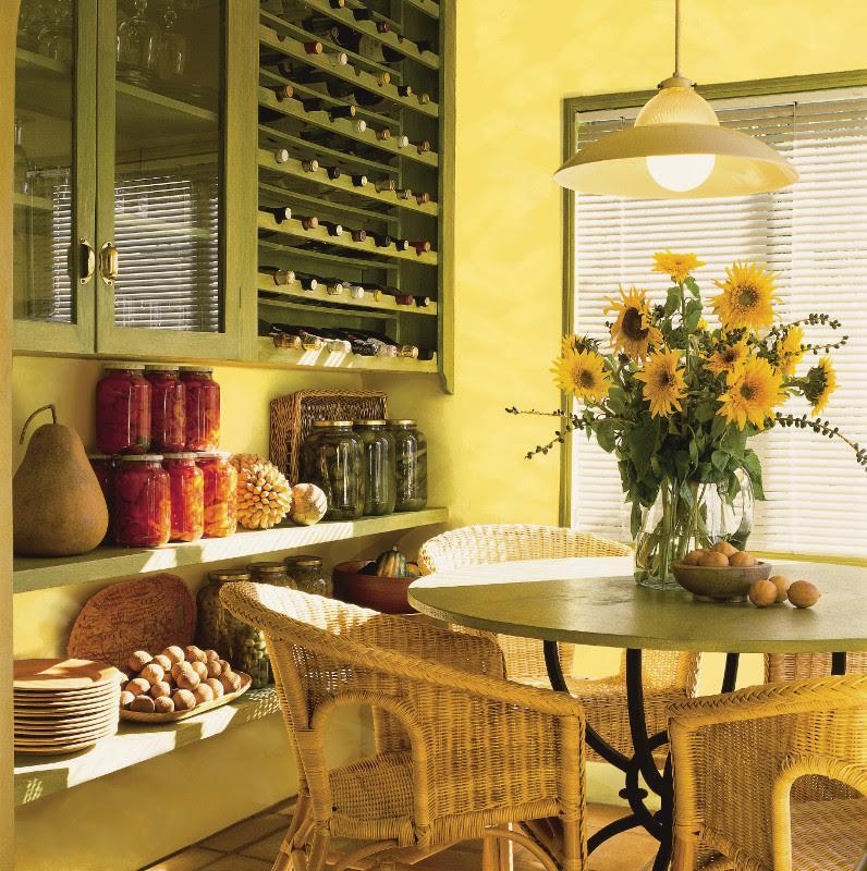 Set Dapur Kuning Meja Dan Kerusi Dapur Untuk Dapur Kecil Petua